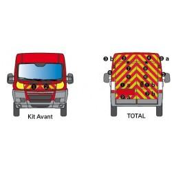 KIT BALISAGE POMPIER TOTAL COVERING POUR FIAT DUCAT 2 PORTES TÔLE A PARTIR DE 2006