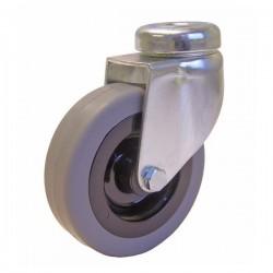 ROULETTE A OEIL ( sans frein ) CORPS NYLON D.125 AL LISSE 90 kg