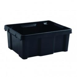 BAC DE RANGEMENT PRO 20 litres noire ( 433 X 342 X 172 mm) EDA