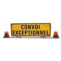 BARRE DE TOIT CONVOI EXCEPTIONNEL 1200 X 400 AVEC 2 GYROPHARES HALOGÈNE 24V