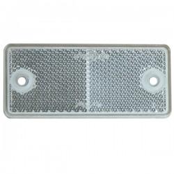 CATADIOPTRE BLANC RECTANGLE ADHÉSIF ( avec 2 trous de fixation ) 90 X 40 mm