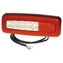 Feu arriere 4 fonctions GAUCHE / DROIT LED PRO-ROAD 12/24 V LG câble 0,5m