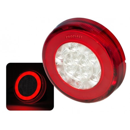 Feu arriere Rond LED PRO-RING 12/24 volts, câble 0,5m avec guide de lumière