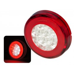 Feu arrière Rond ( BROUILLARD ET RECUL ) LED PRO-RING 12/24 volts, câble 0,5m
