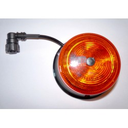 GYROPHARE ORANGE SATELIGHT A POSER 3 POINTS ( sortie de câble 4 voies ) A LED 12 A 24 V HOMOLOGUE R65