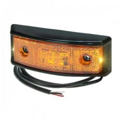 FEU DE GABARIT LED ORANGE A POSER 10/32V AVEC FONCTION CLIGNOTANT