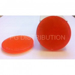CATADIOPTRE ORANGE ROND ADHESIF