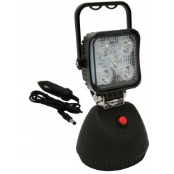 FEU DE TRAVAIL 4 LED ( Autonome et magnétique avec poignée )- 12/24 V -850 Lm -Blanc - IP67