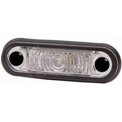 Feu de gabarit LED 10/33V Hella Blanc a encaster avec cable de 5 mm (éclairage blanc )