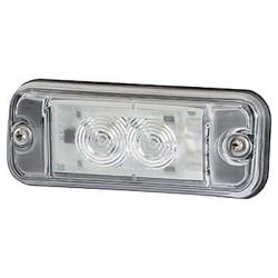 FEU DE GABARIT BLANC A LED 24V A PLAQUER HELLA pour position de montage 10-20°