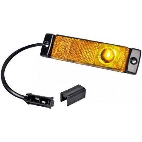 FEU DE GABARIT ORANGE 3 LED A PLAQUER AVEC CABLE 250MM