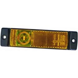 FEU DE GABARIT ORANGE 3 LED A PLAQUER ( avec connecteur DAF et câble 30 cm )
