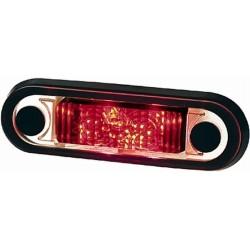 Feu de gabarit LED 8/28V Hella rouge avec cable 500 mm