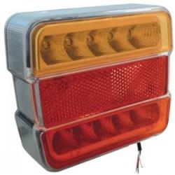 FEU ARRIERE 4 FONCTIONS LED PRECABLE ( 100 X 90 X 35 mm )