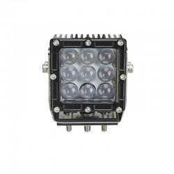 Feu de travail Carré 9 LED 45W- 9/64V / spot -2975 Lm* / ECE R10