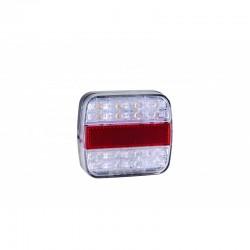 FEU ARRIÈRE 4 FONCTIONS LED 12/24V AVEC ÉCLAIREUR DE PLAQUE ( 100 X 90 X 30 mm )