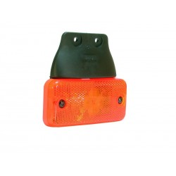 FEU DE GABARIT LATERAL ORANGE 2 LEDS SUR SEMELLE SUSPENDUE