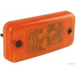 FEU LATERAL ORANGE 2 LEDS A PLAQUER