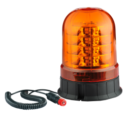 GYROPHARE LED ROTATIF ORANGE MAGNETIQUE AVEC CORDON -3 FONCTIONS