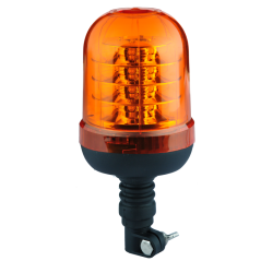 GYROPHARE 18 LED SUR TIGE FLEXIBLE 12/24 V ( R65 / R10 )