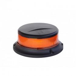 GYROPHARE LED ORANGE MAGNETIQUE AVEC CORDON 12/24 V ( avec inter et cycle de clignotement )