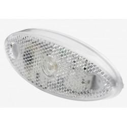 FEU DE GABARIT BLANC A PLAQUER LED 12/24V AVEC CABLE 0,5M RUBBOLITE
