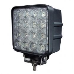 FEU DE TRAVAIL 16 LED X 3W 9 A 32 V IP 67 ( feu de recul homologué )