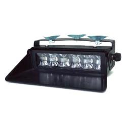Feu bleu BX61 6 LED classe 1 homologué R65, OACI et CEM ECE R10 avec fixation par ventouse + allume cigare