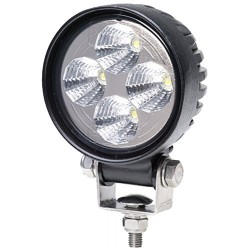 PHARE DE TRAVAIL ROND 4 LED 10/30V- 500 Lm- IP67