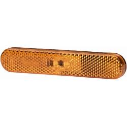 FEU DE GABARIT LED ORANGE 12V LED A PLAQUER ( avec câble 195 mm )