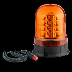 GYROPHARE 18 LED ROTATIF A POSER / MAGNETIQUE 12/24 V ( R65 / R10 )