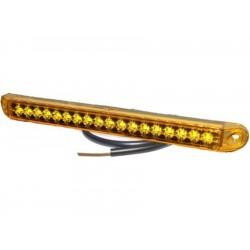 FEU DE GABARIT 3 LED orange Sidemarker lampe PRO-SLIM 24 volts, câble 0,5m, boîtier orange