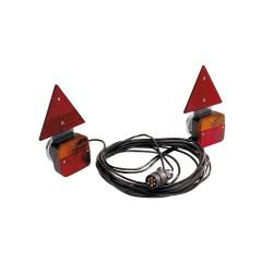 Equipement magnétique entre feux 4 M alimentation 7,5 M avec triangles