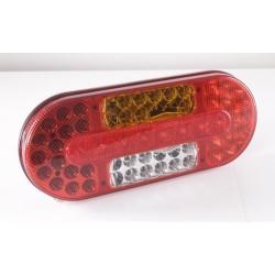 FEU ARRIERE GAUCHE 10/30 V LED AVEC TRIANGLE ( 100 % étanche )