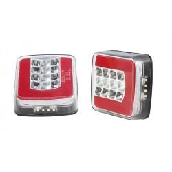 FEU ARRIERE GAUCHE 12/24 V -27 LED ( avec cable )