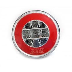 FEU ARRIERE GAUCHE ET DROIT 3 FONCTIONS - 12/24V LED ( diametre 140 mm )