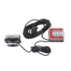 KIT DE 2 FEUX ARRIERE GAUCHE / DROIT MAGNETIQUE 12/24 V -LED ( avec 7.5 METRES cable )