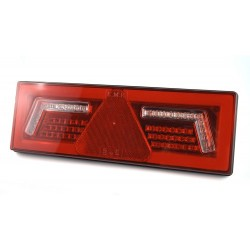 FEU ARRIERE DROIT AVEC TRIANGLE 12/24 V - LED ( avec cable )
