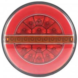 FEU ARRIERE GAUCHE 3 FONCTIONS - 12/24V LED ( diametre 140 mm )