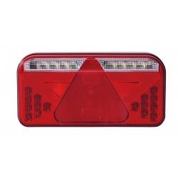 FEU ARRIERE GAUCHE 5 FONCTIONS AVEC TRIANGLE 12/24 V - LED ( avec cable )