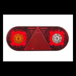 FEU ARRIERE GAUCHE 6 FONCTIONS AVEC TRIANGLE 12/24 V - LED ( 363 X 143 X 48 mm )