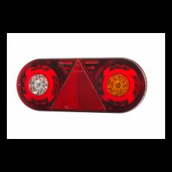 FEU ARRIERE DROIT 6 FONCTIONS AVEC TRIANGLE 12/24 V - LED ( 363 X 143 X 48 mm )