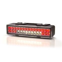 FEU DE RECUL ET BROUILLARD - 12/24V LED (146.5 X 32.80 MM - ENTRAXE 70 MM )