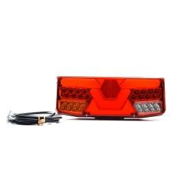 FEU ARRIERE DROIT 7 FONCTIONS AVEC TRIANGLE 12/24 V - LED ( 363 X 143 X 48 mm )