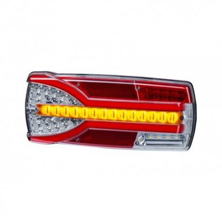 FEU ARRIERE GAUCHE 7 FONCTIONS AVEC TRIANGLE 12/24 V - LED ( 304 X 132 X 48 mm )