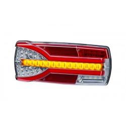 FEU ARRIERE DROIT 7 FONCTIONS AVEC CLIGNOTANT DYNAMIQUE 12/24 V -NEON / LED ( 304 X 132 X 48 mm )