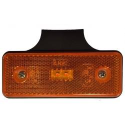 FEU SUSPENDU ORANGE 2 LED 12/24V SUR SEMELLE A 90 degrés (AVEC CABLE LG 0,25M)