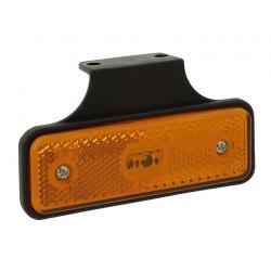 FEU SUSPENDU ORANGE LED 12/24V SUR SEMELLE A 90 degrés (AVEC CABLE LG 0,25M)