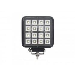 PHARE DE TRAVAIL CARRE 16 LED 12 / 24 V -16W - 2400 Lm ( avec interrupteur Marche / Arret )