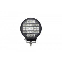 PHARE DE TRAVAIL ROND 28 LED 12 / 24 V -30W - 3800 Lm ( avec interrupteur Marche / Arret )